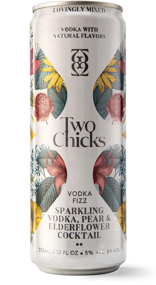 two chicks cocktails vodka fizz can
