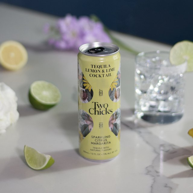 Two Chicks Canned Cocktails, Sparkling RTD, ready to drink cocktails - Sparkling Citrus Margarita