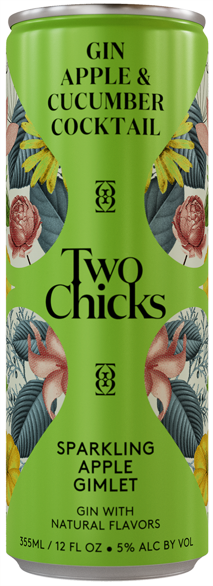 two chicks gin gimlet can