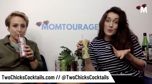 Momtourage Podcast | Two Chicks Cocktails  | Canned Cocktails