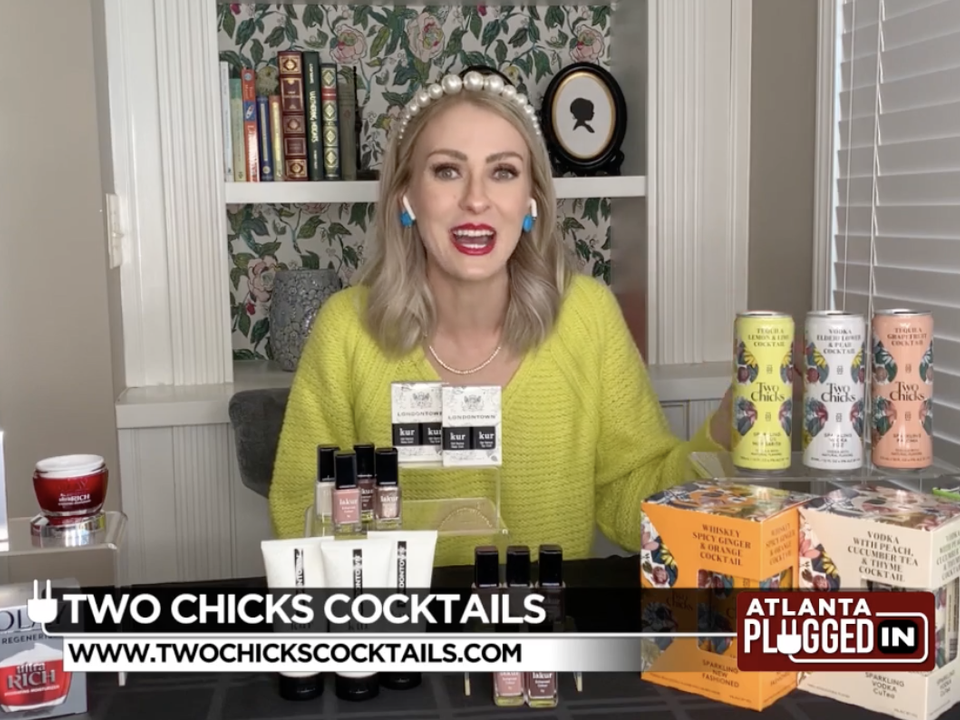 CBS46 Atlanta's Atlanta Pluggin in - Self Care for the New Year with Emily Foley and Two Chicks Cocktails
