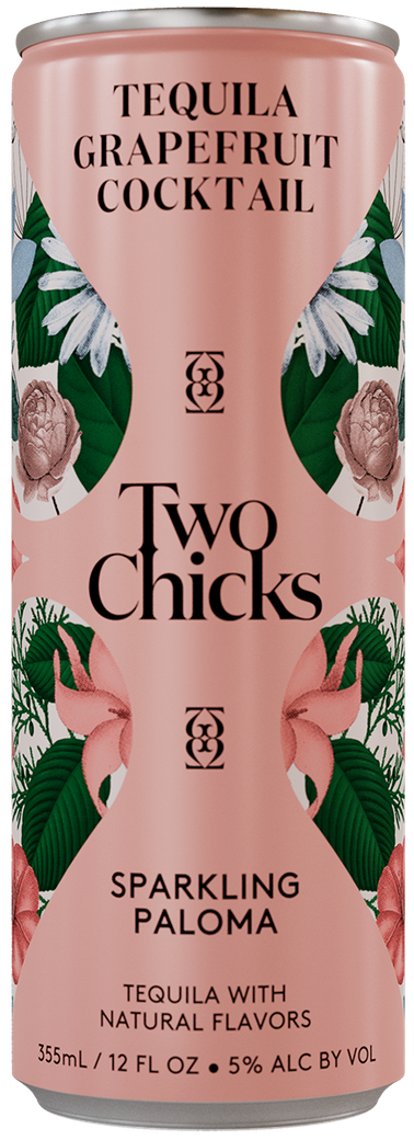 two chicks sparkling paloma can