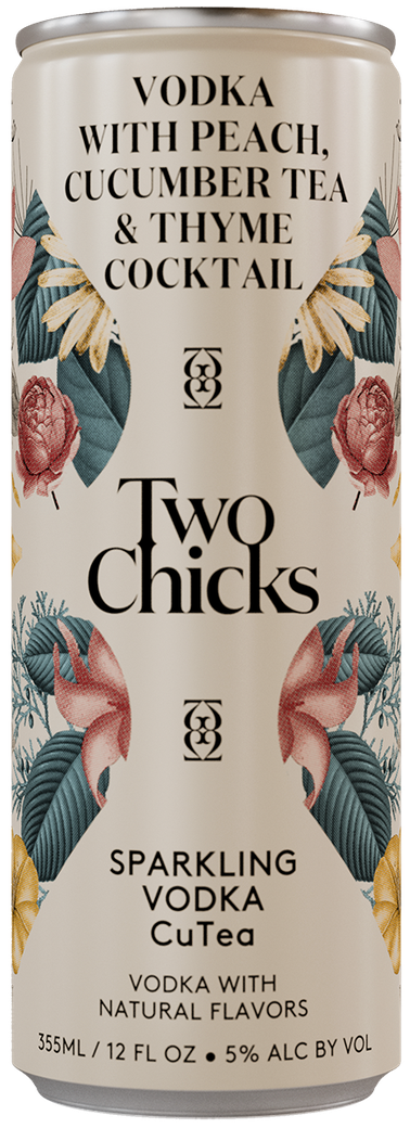 two chicks vodka cutea can